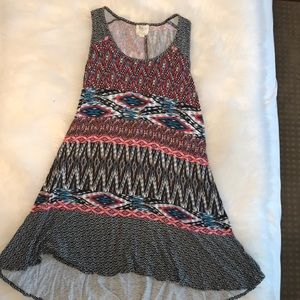 Anthropologie tribal pattern tank tunic